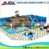 Multi function kids indoor soft playground with slide and ball pool