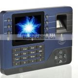 "The fingerprint time attendance real time fingerprint picture 3.5"" TFT display and support TCP/IP, USB Memory Disk, USB cable"