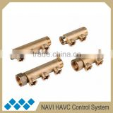 "1"" BSP, DN25*2/3 brass radiator manifold, heated manifold group, brass manifold for radiator"