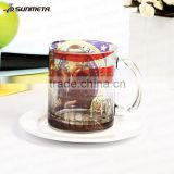 Factory directly 11oz sublimation frosted glass coffee mug