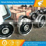 China Manufacture Steel Material Crane Wheels,Customized Crane Trolley Crane Wheel on Rails