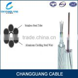 High quality Stranded aluminum alloy wire 48 core single mode OPGW fiber optic g652d cable