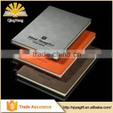 Cutom made embossed business PU cover leather note book