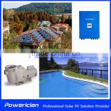 Solar DC Pump 25Ton Hourly 15 Meters Lift Head 1200W Powerician Swimming Pool Pump Water Filter Pump