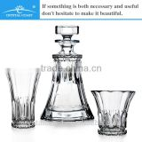 wholesale cheap machine made tumbler shot glass spirit decanter; bohemia crystal czech republic;chivas whisky glass decanter set