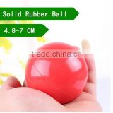 CY187 Products For Pet Puppy Dog Red Solid Natural Rubber Elastic Pet Ball Toys, Bite Resistant Dog Toy Squeakers Training Toys