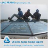 High Quality Cheap Corrugated Color Light Steel Frame Glass Roof Dome