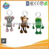8cm-12cm assorted styles plush keychain toys, plush animal keychain, mini plush toys for bouquet