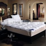 NEW bed White beige Thickening folding luxury goose Down 100% cotton shell 95% goose down Mattress Topper pad