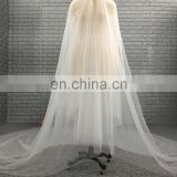China Manufacture Wholesale Cheap Two Layers Soft Tulle Fabric Long Bridal Wedding Veil