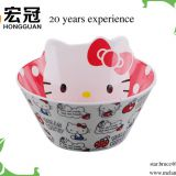 Hello kitty melamine dinner bowl v shape melamine dinner bowl for children