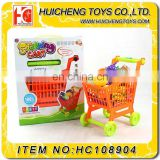 Pretend school plastic fruit game shopping toy car shopping trolley supermarket toys for kids