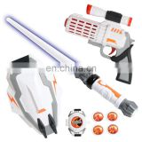 Factory wholesale Plastic war Lightsaber Sword Gun Set With LED light & Sound Function light saber for kids