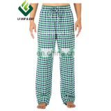 Cotton Flannel Pajama Lounge Pants- Blue/Green/White Small Checks