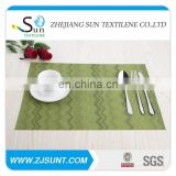 Hot sale green stripe placemat made in China