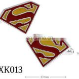 New product 2015 fashion GOLD cufflinks factory china superman cufflinks