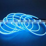 2016 Car EL WireBlue 5M 12VDC Neon Light EL Wire Rope Tube with ciggar plug inverter for Car interior decoration atmosphere lamp