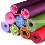 Customized TPE Yoga Mat 2 Colors 2 Layered Mat183*61*0.6 cm