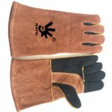 Multi-Faceted Cow Leather Gloves Welding, Fire, Barbecue
