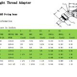 45°straight thread adapter6902