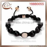 2014 Lastest 10Mm Black Diamond Balls Bracelet Friendship Discount Price(OEM ODM)