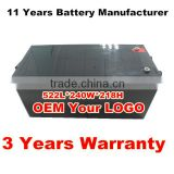 Long life deep cycle gel battery 12v 200ah maitenance free battery for solar power system