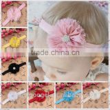 shabby sweater edge Ballet flower hair accessories baby headband wholesale with star crystal diamond jewelry MY-AC0032