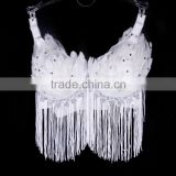 Wholesale 2016 new design party supplies masquerade carnival performer sexy feather bra