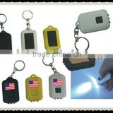 promotion gift item solar led keychain,adverstising solar keychains ,cheap items to sell led solar keychain