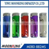 hot selling product cigarette butane gas lighter, heavy electronics ISO9994 lighter with LED and child safety