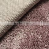 100 % polyester thick wool sherpa cationic fabric for blanket