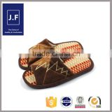 hot sale summer indoor outdoor cool leather open toe slipper for men