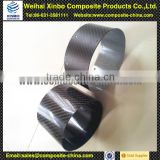 High temperature resistance carbon fiber car exhaust pipe with 3k surface finish for generator