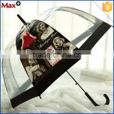 Fashion pvc transparent sex beautiful girl picture umbrella
