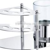 Stainless steel table toothbrush holder / tumbler holder
