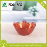 decorative color glass sugar bowl