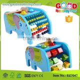 Lovely Elphant Shape Multifunction Educational Toys for baby with beads, alphabet, hammer ball