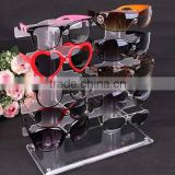 Plastic Cool Glasses Show Rack Counter Display Clear Acrylic Sunglasses Holder