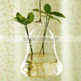 Hanging Bell Shaped Glass Vase For Home&Wedding Decoration, Garden Ornament