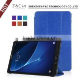 2016 new pu leather book style for Samsung galaxy Tab A 10.1Soft Microfiber skin for ultra thin case with stand function