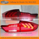High Quality Light Guide LED Tail Lamp for Honda City Best Selling LED Tail lights for Honda City 2014-2015 LED Back Lights