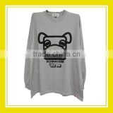 2016 Fashion Products Bros Baby Schnauzer Square Head Men Cotton Printed Long Sleeve Grey Long T-Shirt