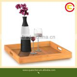 Square Natural Bamboo Serving Tray for All Occasions