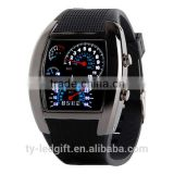 black sport watch led waterproof black led watch date led sport watch