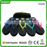 high quality black sole girls slipper simple high heel rubber flip flop
