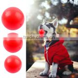 Red Soft Silicone Rubber Dog Chew Ball Toys For Training Golden Retriever And German Shepherd