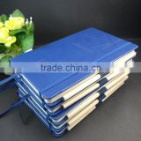A5 Navy blue thermo pu leather diary with pen
