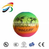 22cm inflatable PVC volleyball rainbow beach ball                                                                         Quality Choice