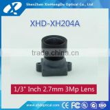 "3 mega pixel 1/3"" 2.7mm F1.8 for surveillance indoor camera DC auto iris CS mount all metal lens"
