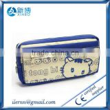 2014 high quality lovelty girls cat printing pencil bag
